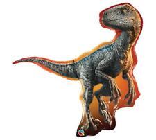 "NEW HUGE 38"" Jurassic World RAPTOR DINOSAUR Balloon Fallen Kingdom FREE SHIP"