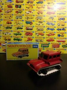Matchbox Lesney #35 Snow Trac Tractor with box