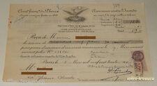 RECU 1936 : COMPAGNIE FRANCAISE du PHENIX - ASSURANCE INCENDIE + TIMBRE FISCAL