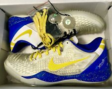Nike Kobe Bryant ID 8 VIII System Yellow White Blue Mens Size 9.5 Shoes RARE