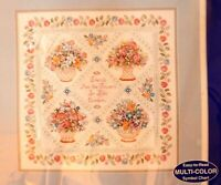 Friends Are Flowers Lge Counted Cross Stitch Kit J & P Coats 23509 Floral NIP