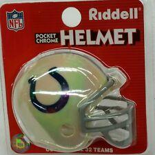 NFL Indianapolis Colts Riddell Pocket Pro Helmet, New (Chrome)