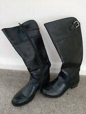Heavenly Feet Knee High Black Boots Wide Leg Size 39 (6)