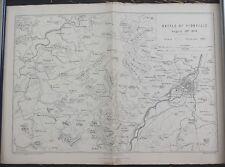 "Antique Map: Franco-Prussian War ""Battle of Vionville, 1870"", Printed 1875"