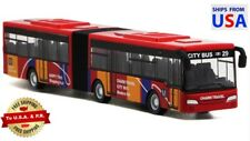 Public Transportation Articulated Diecast Model Bus Pull Back – Red 1:64