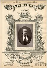 Lemercier, Paris-Théâtre, Charles Lecocq (1832-1918), compositeur Vintage albume