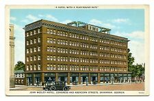 John wesley hotel congress and abercorn street savannah georgia unused postcard