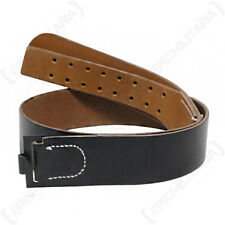 German WW2 Black Leather Belt - Repro Soldier EM Army Heer Gurtel WWII