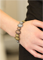 "NEW PAPARAZZI ""CACTUS CAY"" STRETCH BRACELET Silver, Brass or Multi"