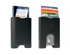 Wallet Credit Cards & Money Men Aluminium Black Matte Easy Slide RFID BLOCK