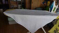 Tischdecke weisses Leinen ,Retro,88×83 cm