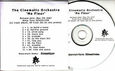 THE CINEMATIC ORCHESTRA Ma Fleur UK watermarked promo test CD + press release