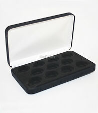 Black Felt COIN DISPLAY GIFT METAL PLUSH BOX holds 11-Quarter or Presidential $1