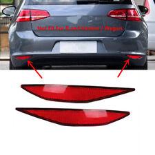 Pair Dark Red Rear Bumper Lower Reflector Marker Fit For 14-17 Volkswagen Golf 7