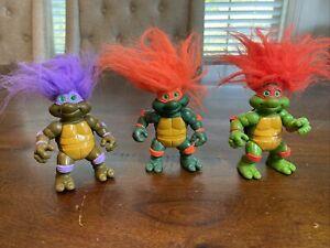 """Vintage 1993 Teenage Mutant Ninja Turtles Trolls Lot of 3 Figures! TMNT RARE! 4"""""""