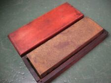 OLD USED VINTAGE TOOLS NATURAL MATERIAL SHARPENING HONING STONE W/ BOX