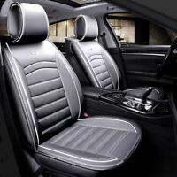 2x Autositzauflagen Vordere Schonauflagen Grau Kunstleder Komfort Elegant Neu