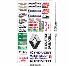 Renault Clio Autoaufkleber Sponsoren Marken Aufkleber Decals Tuning Sticker Set