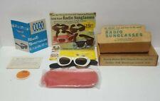 RARE Ross Transistor Radio Sunglasses Model RE-103 + box,case,warranty, manual