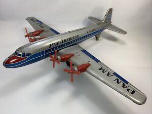 Vintage 1950's Japan Momoya Pan American 'PAN AM' N-568 Friction Airplane Read