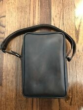 Vintage Small Padded Camera Bag Case Faux Leather Brown
