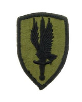 "Army 1st Aviation Brigade Iron On Patch 3 1/2"" x 2 1/2"" PM3619 Licensed by Eagle"