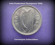 Irish Predecimal Threepence 1942.AH0145.