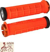 ODI ELITE PRO LOCK-ON ORANGE W/ ORANGE CLAMPS BMX-MTB BICYCLE GRIPS