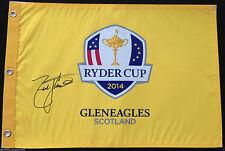 ZACH JOHNSON SIGNED 2014 USA RYDER CUP GOLF PIN FLAG GLENEAGLES SCOTLAND COA  J3