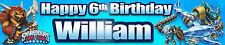 """2 x 40"""" SKYLANDERS TRAP TEAM PERSONALISED BIRTHDAY BANNER"""