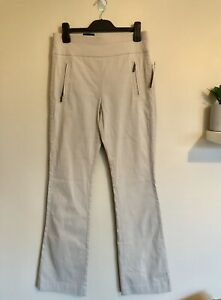 INC Womens Pants Size 10 US 6 Cream Flare Wide Leg Pants Trousers NWT