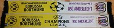 Original Schal + Champions League 2014/2015 Borussia Dortmund vs RSC Anderlecht