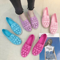 New Women Comfy Flower Hollow-Out Pumps Ladies Round Toe Flat Loafers Boat Shoes