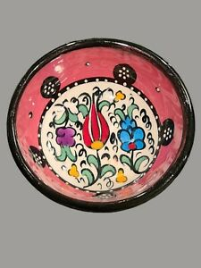 Vintage Hand Painted Turkish Dipping Bowl