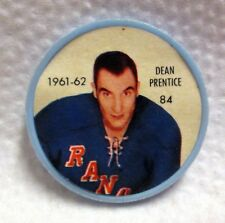 1961-62 Shirriff Hockey Coin No. 84 Dean Prentice New York Rangers Jello wku3