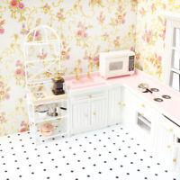 1/12 White Metal Storage Shelf Dollhouse Miniature Kitchen Furniture Accs