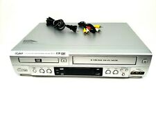 Sanyo Dvd Player Vcr Combo 4 Head Vhs Recorder Dolby Digital Mp3 Audio