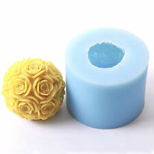 Rose Orb LARGE Silicone Candle/Bath Bomb Soap Jelly Mould LZ0092 FREE P&P