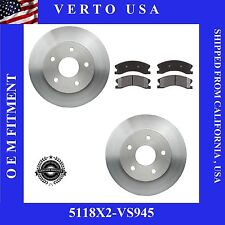 Set Of 2 Front Disc Brake Rotors & Pads fits 99-04 Jeep Grand Cherokee 5118X2-9