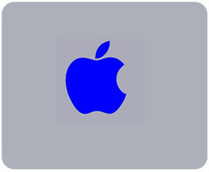 BLUE APPLE print MOUSE MAT compatible with Mac iMac MacBook - mousemat pad gift