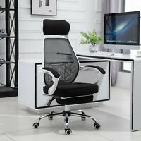 360° Swivel Reclining Office Chair Adjustable Height Recliner w/ Footrest Home