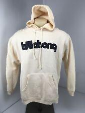 Vtg 90s Mens Ivory Billabong Hoodie Sweatshirt Sz M Surf Skate Embroidered EUC