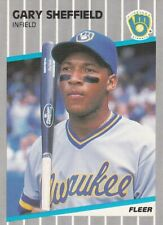 Gary Sheffield - 1989 Fleer - # 196 - ROOKIE -  FREE SHIPPING!