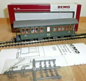 Bemo 3230 123 Zweiachser Passenger Car Rhb B 2063 with Instructions New Boxed