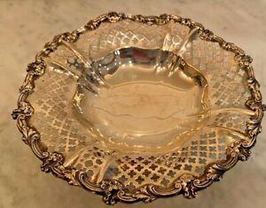 Gorham Sterling Silver Pierced Bowl Dish 1920s A5891
