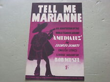 Tell Me Marianne,  Sheet Music