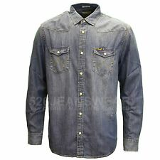Hombre Wrangler vaquero vaqueros estilo camisa - W5973o78e medio piedra lavado L