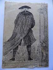 1786 Genuine Antique Caricature Gulliver Sayers pub Cornell Cartoon Politics Old