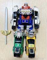 used BANDAI Vintage Power Rangers TURBO Carranger DX RV Robo Megazord Gekisou