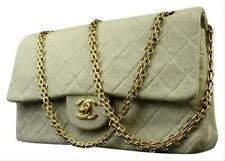 Chanel Quilted Grey Classic Double Flap 215748